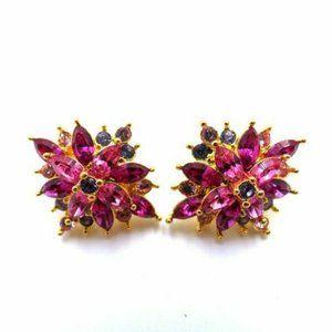 Joan Rivers Crystal Pierced Earrings